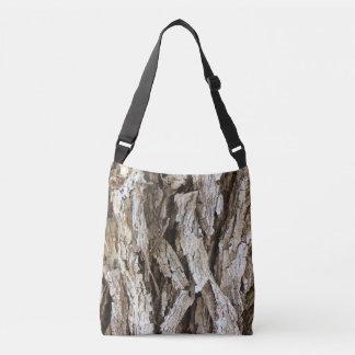 Bolso Cruzado Tote rústico de Camo de la corteza de árbol