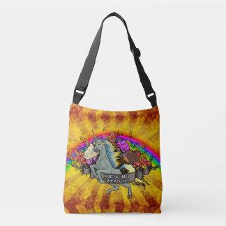 Bolso Cruzado Unicornio impresionante, arco iris y tocino de la