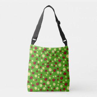 Bolso Cruzado verde lindo del estampado de plores de la