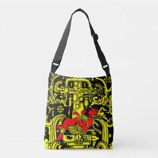 Bolso Cruzado Versión amarilla y roja del astronauta antiguo -