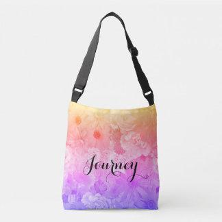 Bolso Cruzado Viaje floral en colores pastel de Boho de las
