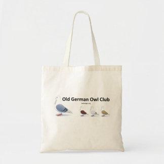 Bolso de club alemán viejo del búho
