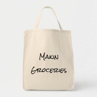 Bolso de compras de ultramarinos de Makin Bolsa Tela Para La Compra