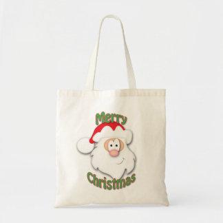 Bolso de compras del navidad del padre bolsa tela barata