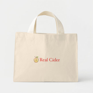 Bolso de compras real de la sidra bolsa tela pequeña