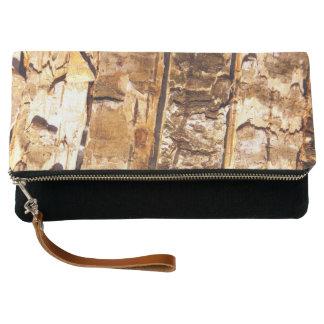Bolso de embrague de madera del modelo