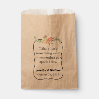 Bolso de encargo del favor del boda de la barra de bolsa de papel