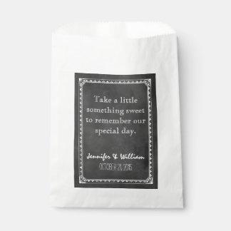 Bolso de encargo del favor del boda de la pizarra bolsa de papel