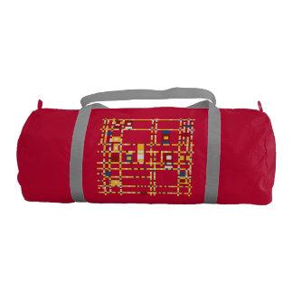 Bolso de encargo del gimnasio de la lona, rojo con bolsa de deporte