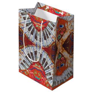 Bolso de encargo del regalo del piano R4 - medio, Bolsa De Regalo Mediana