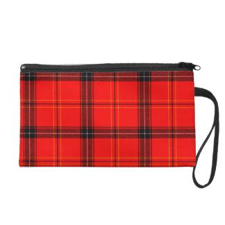 Bolso De Fiesta Mitón rojo y negro del tartán de la tela escocesa