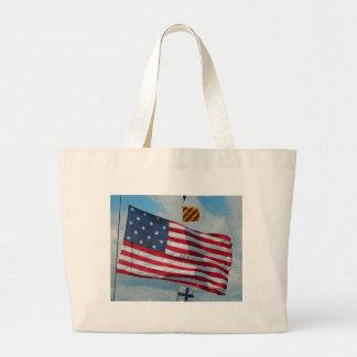 Bolso de la bandera de la estrella de los E.E.U.U. Bolsa De Mano