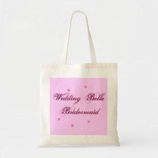 Bolso de la dama de honor de la belleza del boda bolsa tela barata