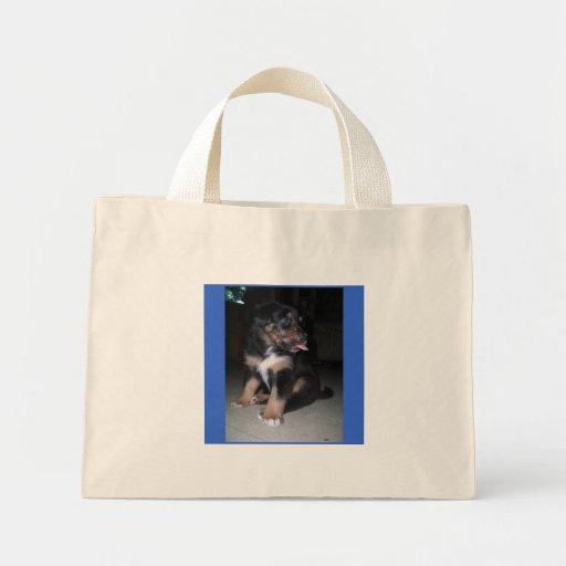 bolso de la frambuesa del perrito bolsas lienzo
