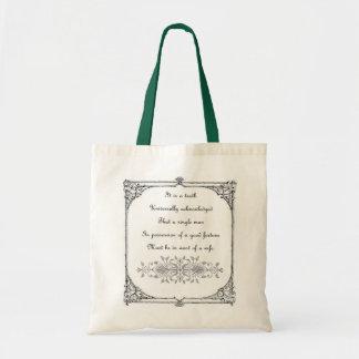 Bolso de la inspiración de Jane Austen