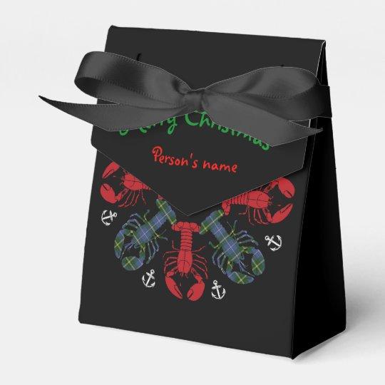 Bolso de la invitación de N.S. Christmas del ancla Caja Para Regalos
