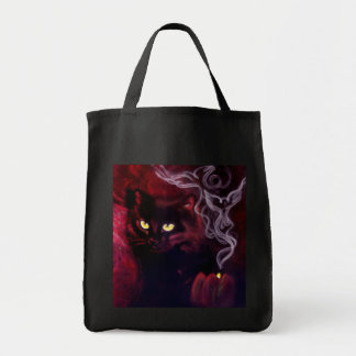 Bolso de la magia del gato negro bolsa tela para la compra