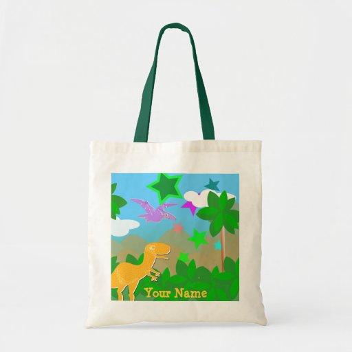 Bolso de la selva de los dinosaurios del dibujo an bolsa