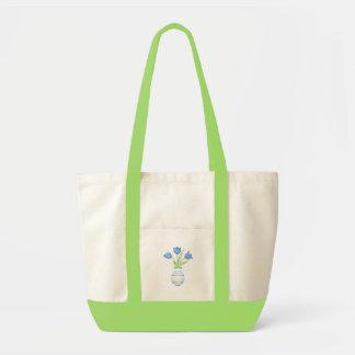 Bolso de los tulipanes azules bolsas de mano