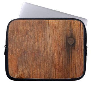 Bolso de madera de la electrónica del falso graner funda para portátil