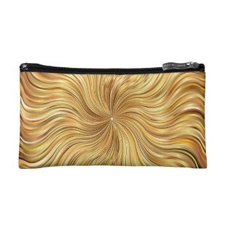 Bolso De Maquillaje Brown abstracto colorido reflexivo