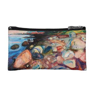 Bolso De Maquillaje Orilla con la casa roja de Edvard Munch