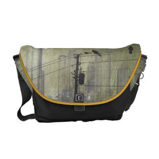 Bolso de oro de la ciudad del nómada astuto bolsas de mensajeria