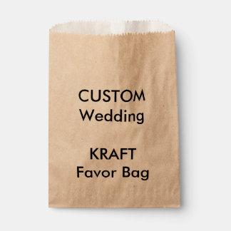 Bolso de papel de encargo KRAFT del favor del boda Bolsa De Papel