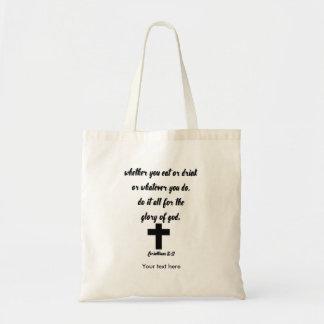Bolso De Tela 10:31 de los Corinthians