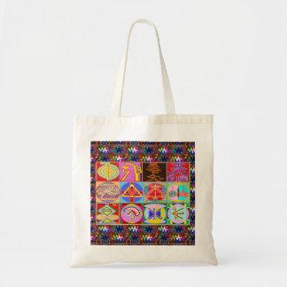 Bolso De Tela 12 diseños de la cura de Reiki n Karuna Reiki