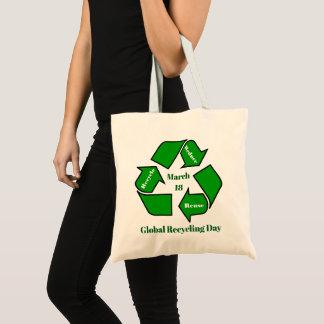 Bolso De Tela 18 de marzo, diseño de reciclaje global del día