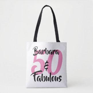 Bolso De Tela 50 y fiesta de cumpleaños personalizada fabulosa