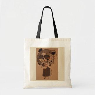 Bolso De Tela Abrazos de la panda