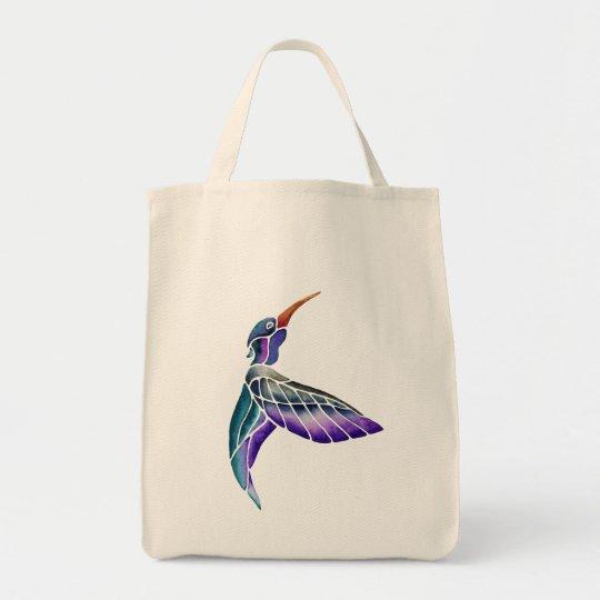 Bolso De Tela Acuarela abstracta del colibrí