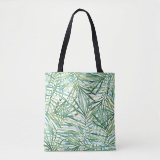 Bolso De Tela Acuarela tropical de las hojas