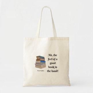 Bolso De Tela Ah, la sensación de un buen libro en la mano