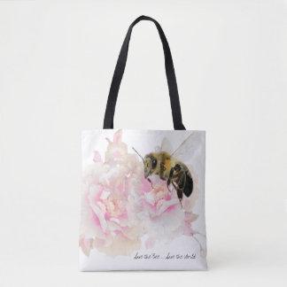 Bolso De Tela ¡Ahorre la abeja! ¡Ahorre el mundo! Abeja bonita