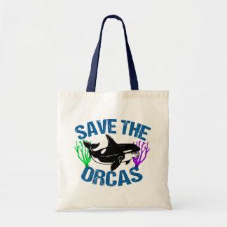 Bolso De Tela Ahorre las orcas lindas