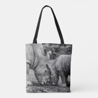 Bolso De Tela ahorre los rhinos