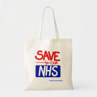 Bolso De Tela Ahorre nuestro NHS