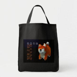 Bolso De Tela Algodón 2018 del año del perro del arte del