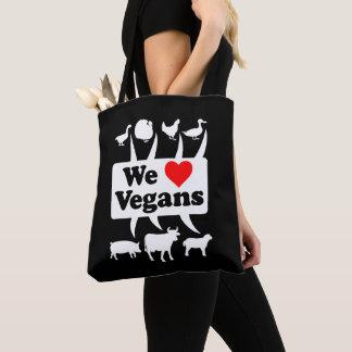 Bolso De Tela Amamos a los veganos II (blancos)