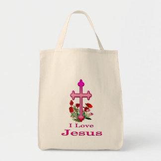 Bolso De Tela Amo a Jesús
