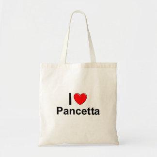 Bolso De Tela Amo el corazón Pancetta