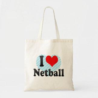 Bolso De Tela Amo el Netball