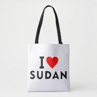 Bolso De Tela Amo el país de Sudán como el turismo del viaje del