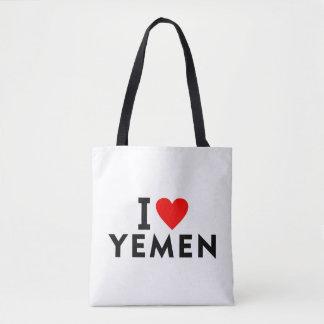 Bolso De Tela Amo el país de Yemen como el turismo del viaje del