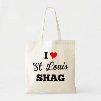 Bolso De Tela Amo la pelusa de St. Louis