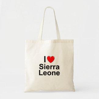 Bolso De Tela Amo Sierra Leone del corazón