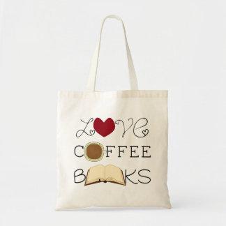 Bolso De Tela Amor, café, libros